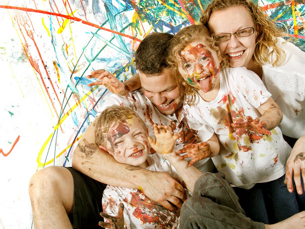 messy play family photo shoot lawson wright studios photographer wakefield photography