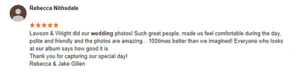 wedding photographer review 2