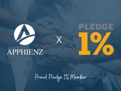 Apphienz is Now a Pledge 1% Member!