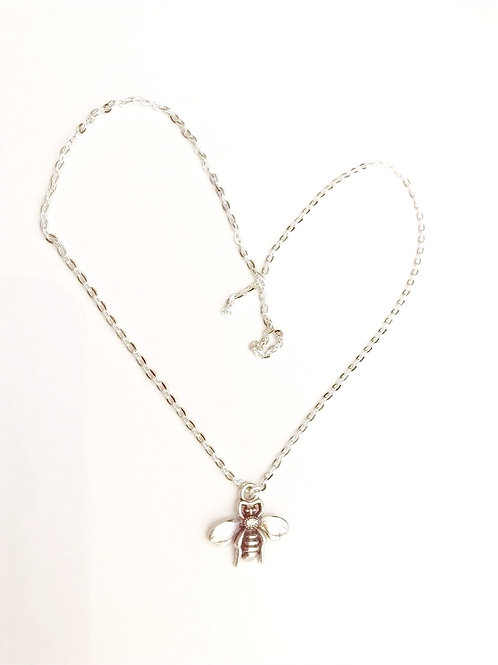 Bee Kind Silver Plated Necklace