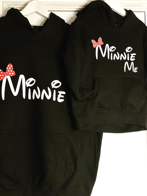 Little Minnie Twinning Hoodies
