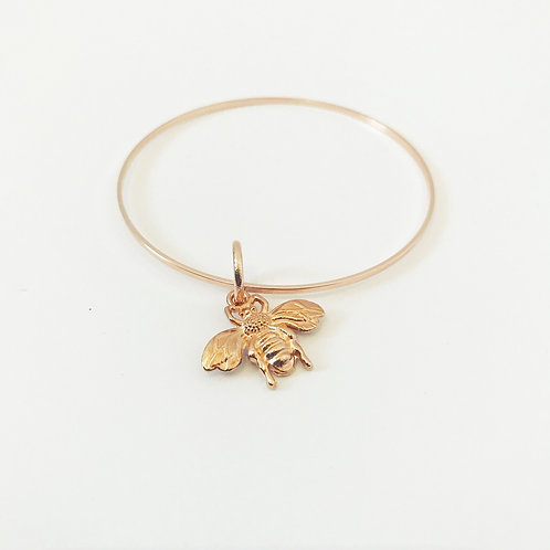 Rose Gold Plated Bee Bangle