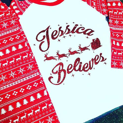 Family Red Christmas Design PJ Set