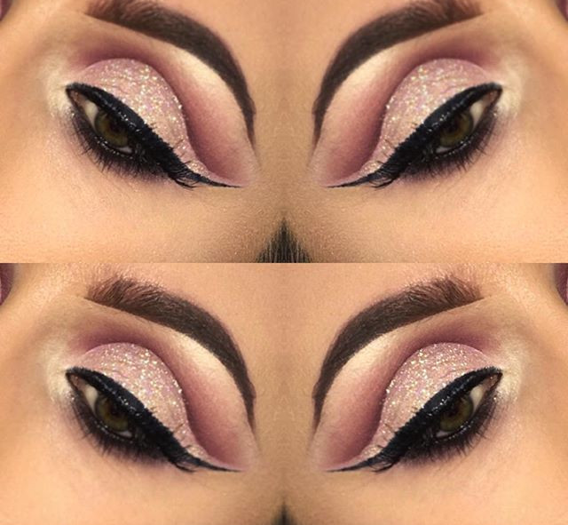 Glitter Cut Crease 💗👄✨__litcosmetics C