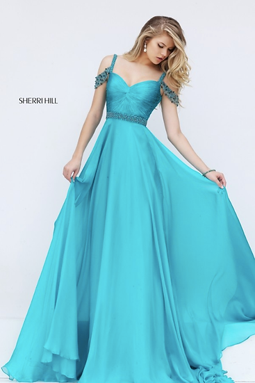 Sherri Hill 50086 Turquoise