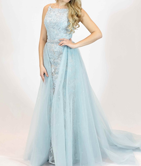 Sherri Hill 51602 Light Blue/Nude