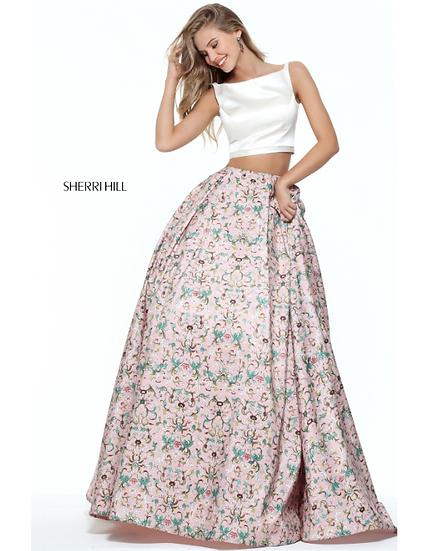 Sherri Hill 51123 Ivory/Pink