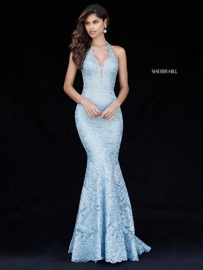Sherri Hill 51616 Light Blue