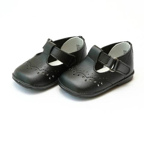 Angel Baby Shoes T-Strap matte Black