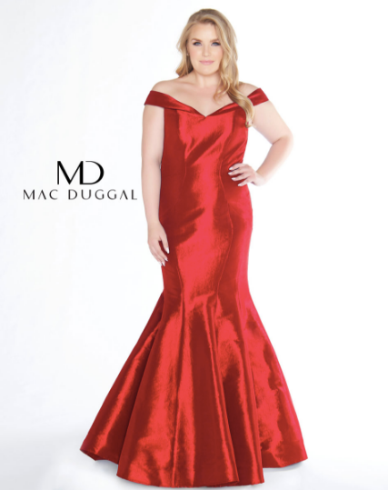 Mac Duggal 66387F Red