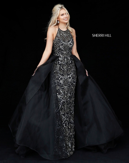 Sherri Hill 51376 Black/Gunmetal