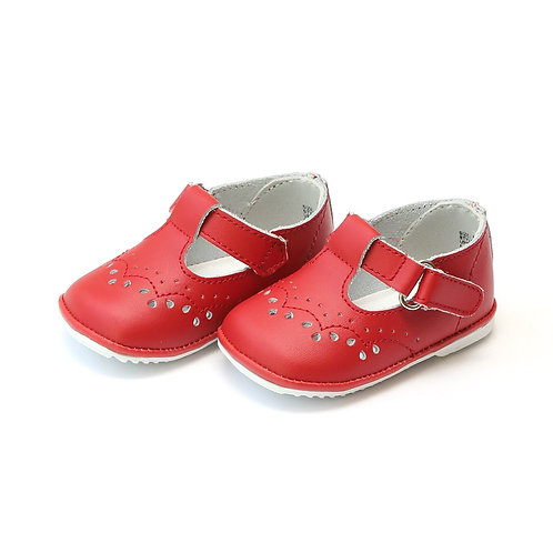Angel Baby Shoes T-Strap Red