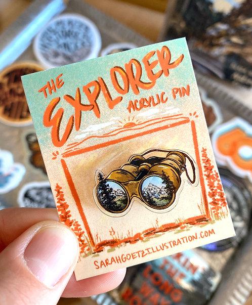 Explorer Acrylic Pin