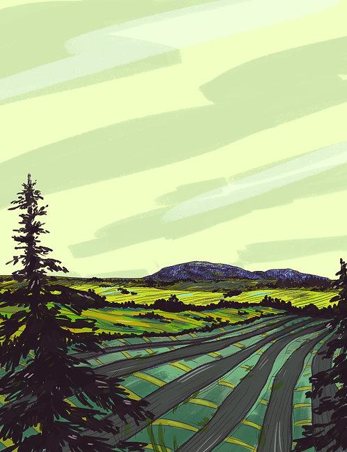 Crow Peak Print