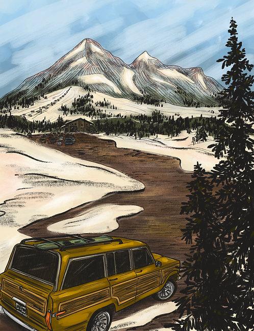 Ski Lodge Print
