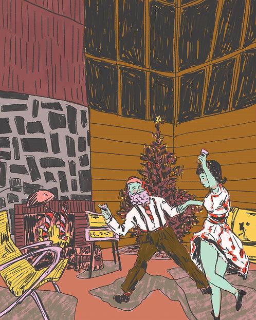 Retro Santa Print