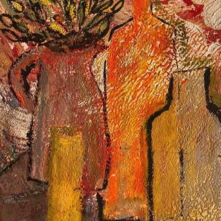 Vases orangés