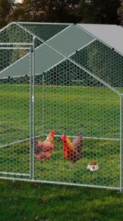 Galvanized Chicken and Pet Coop_ Cage _ Enclosure (1-2).webp