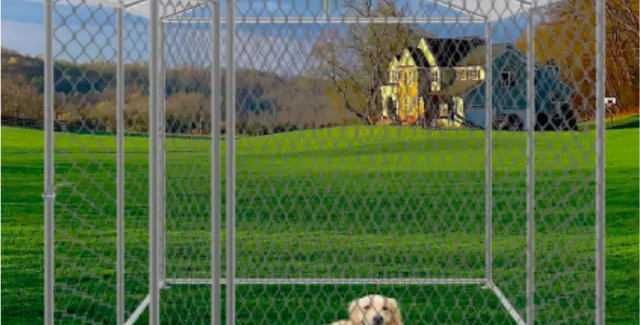 """Dog and Pet Kennel / Cage / Enclosure (79""""W x 79""""L x 59""""H)"""