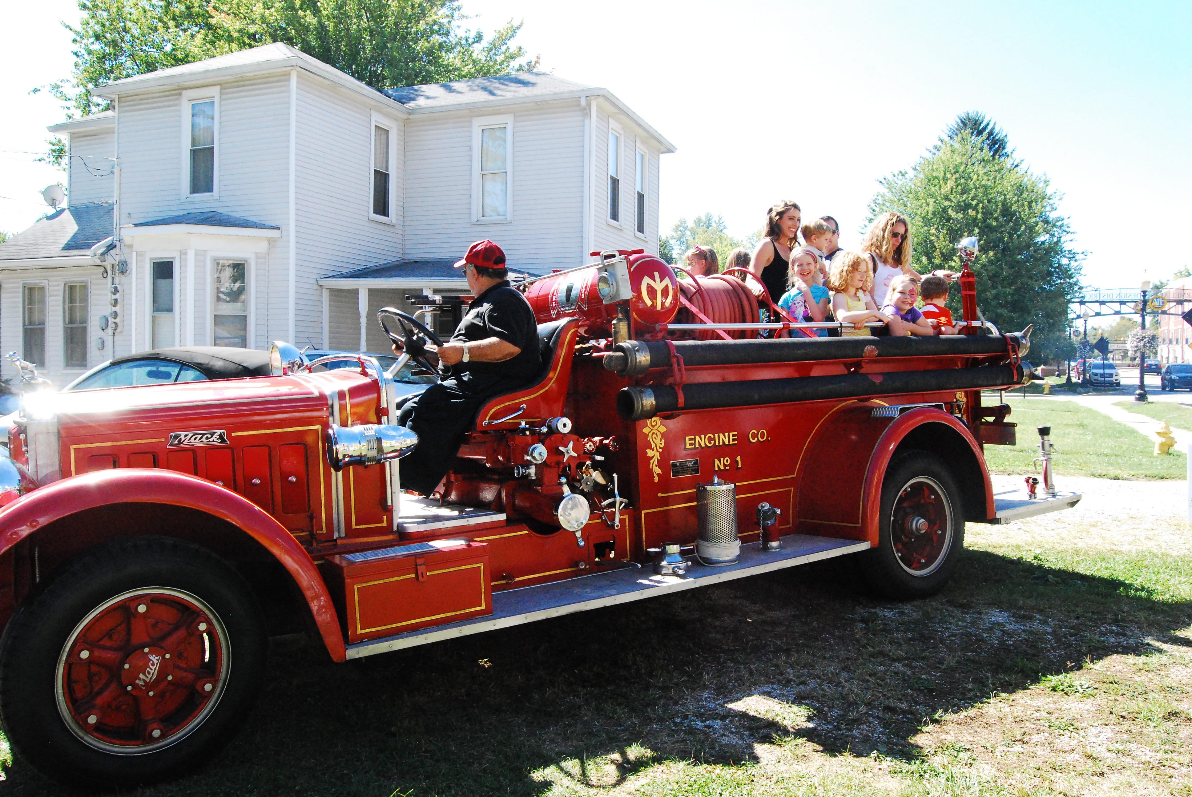 Antique firetruck rides!