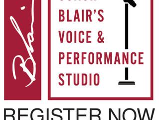 Coach Blair's Voice & Performance Studio OPENING SOON!