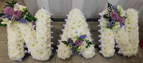 """""""Nan"""" Floral Letter Design"""