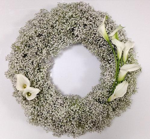 Gyp and Calla Lily Wreath