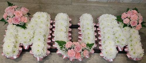 """Mum"" Floral Letter Design"