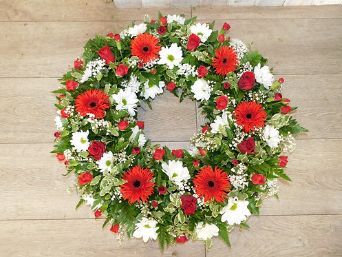 Red Open wreath