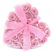 Set of 24 Soap Roses in a Heart Box
