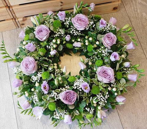 Lilac Open Wreath