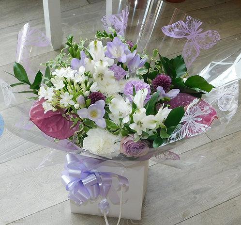 Lilac Anthurium Bouquet