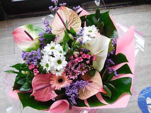 Luxury Hand-Tied Anthurium Bouquet