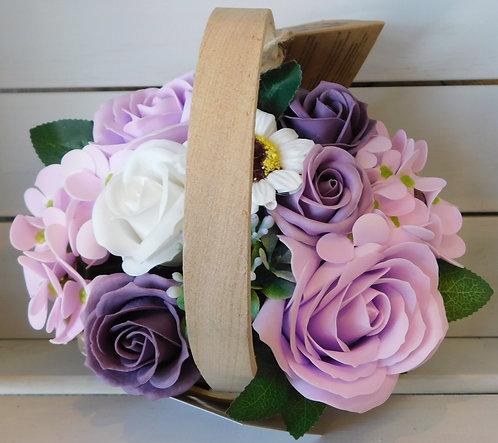 Soap flower basket