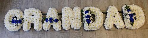"""""""Grandad"""" Floral Letter Design"""