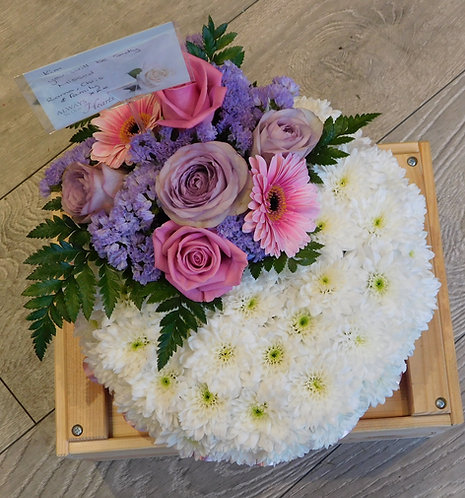 Pink And Lilac Posy Arrangement with Top Spray