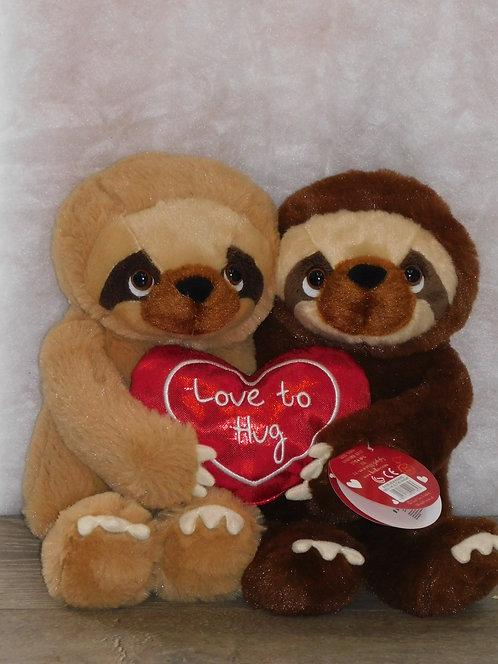 Cecil the Sloth Hugging Bear