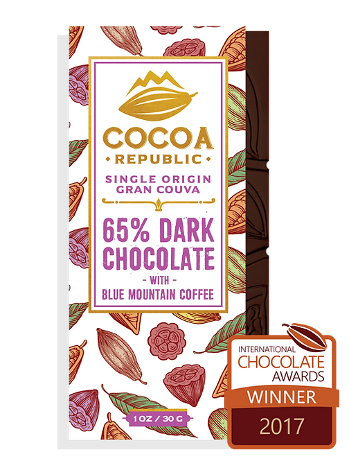 Cocoa Republic 65% with Blue Mountain Coffee, Gran Couva, Trinidad