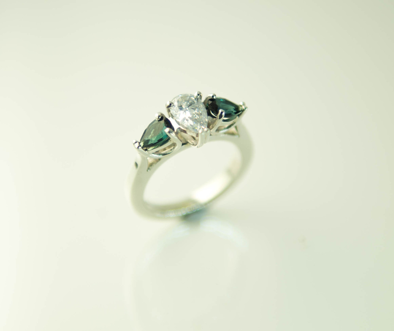 Pear and Tourmaline Ring