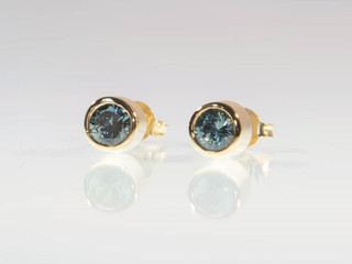 Australian Sapphire Gold Earrings