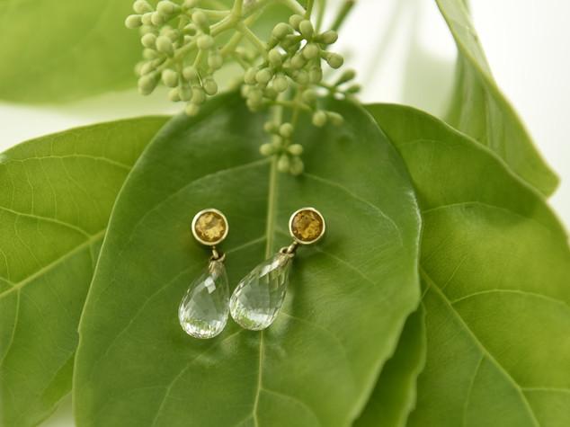 Citrine and Quartz Earrings