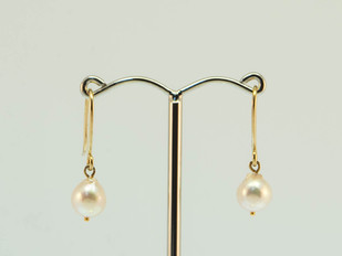 9ct Yellow Gold and Pearl Earrings