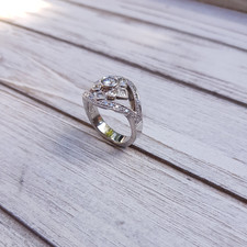 Diamond dress ring pave set