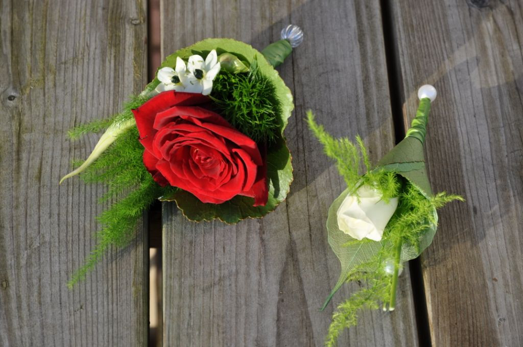 Corsages trouwerij - bruiloft