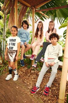 Fotoshoot Nelson Kidscollectie in Vlindertuin Vlindorado