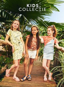 Nelson kids collectie opnames in Vlindertuin Vlindorado