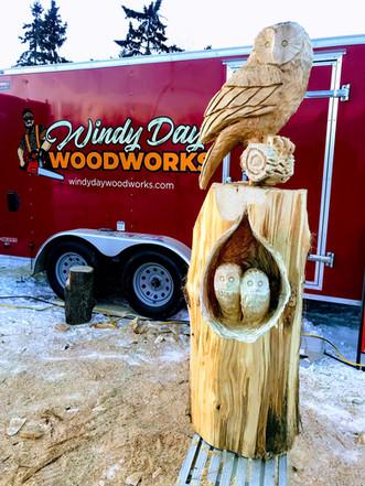 Chainsaw Carve Owl