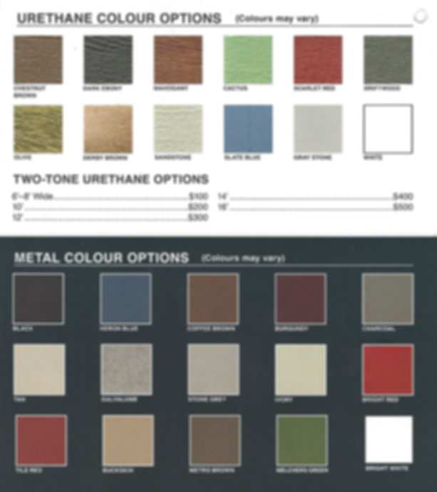 Premier Portable Buildings Colours