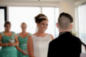 Bride smiling Kate Stevenson Photography