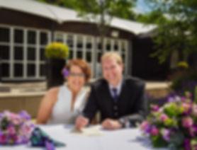 wedding couple signing register